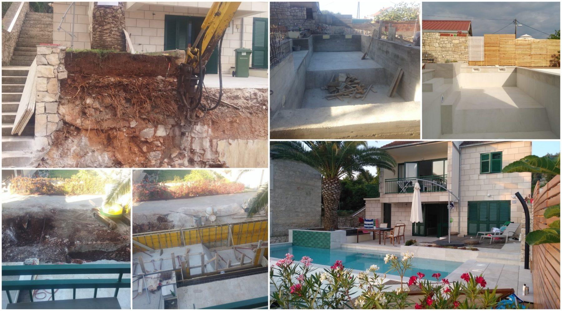 postupak gradnje bazena